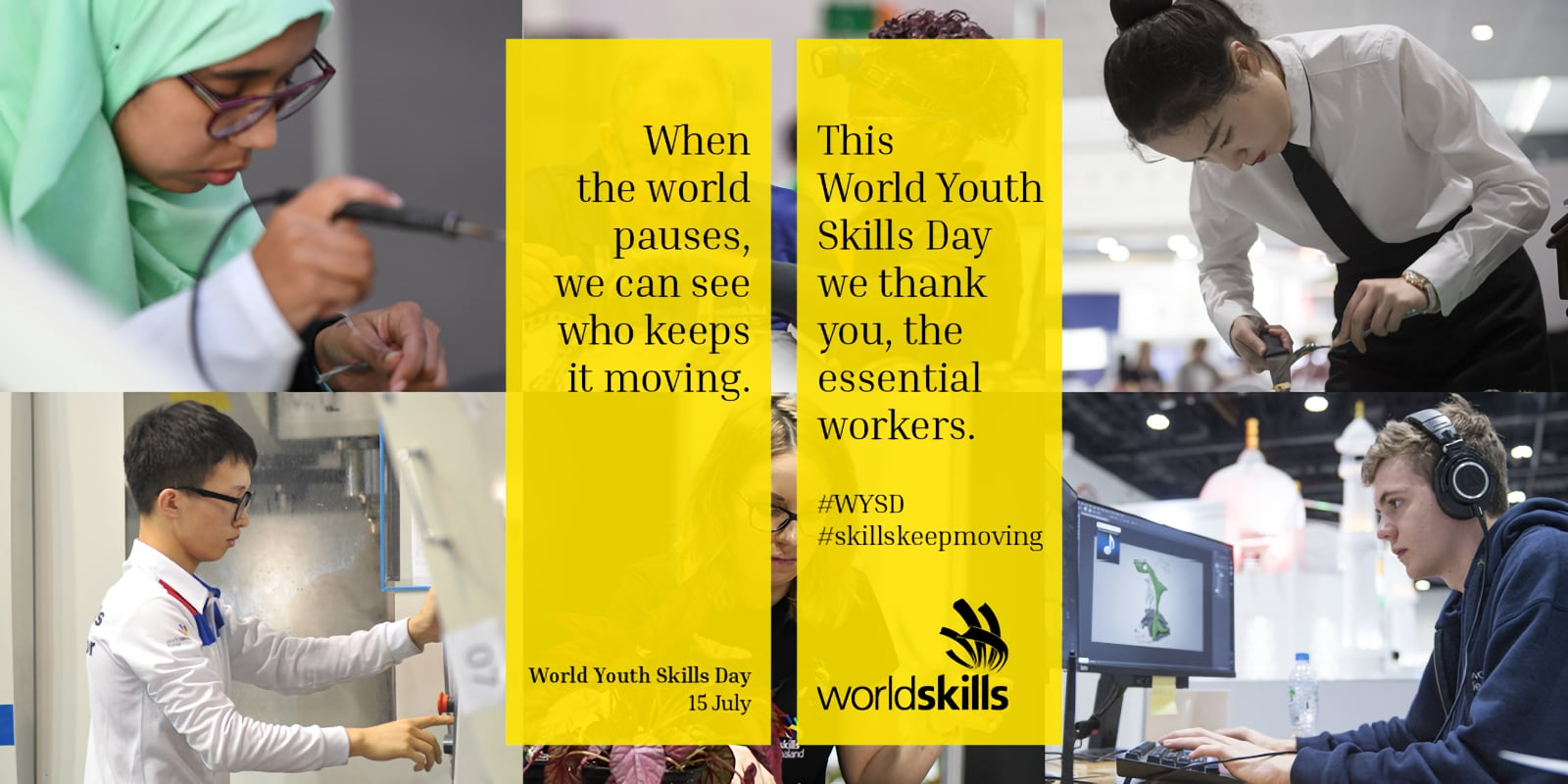 World Youth Skills Day - 15 July  IMAGES, GIF, ANIMATED GIF, WALLPAPER, STICKER FOR WHATSAPP & FACEBOOK