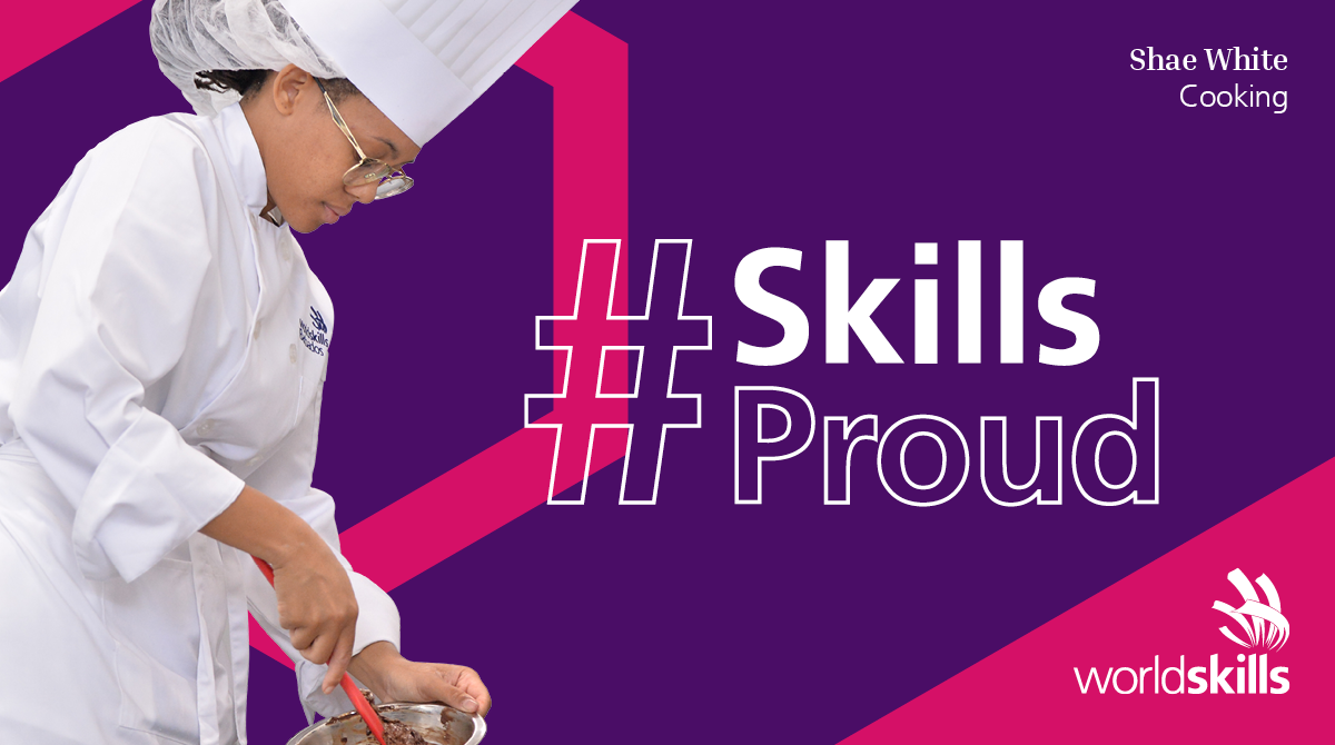 Shae White represented Barbados in Cooking at WorldSkills Kazan 2019