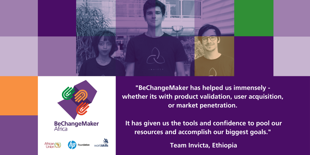 Team Invicta from Ethiopia, on a mission to connect skilled refugees with decent job opportunities around the world.