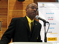 Official delegate for Jamaica, Kevin Mullings at the GA in Shizuoka