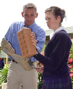Youth bricklaying education